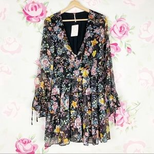 NEW Free People Closer to the Heart Floral Dre…